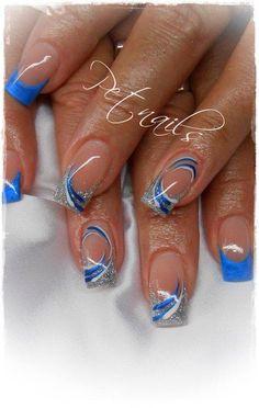 faded french nails Silver - faded french nails Silver La meilleure image selon vos envies sur dip powder nail V - Nail Tip Designs, Blue Nail Designs, French Nail Designs, Nail Designs Spring, Acrylic Nail Designs, Stylish Nails, Trendy Nails, Cowboy Nails, Beige Nails