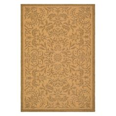 Safavieh Courtyard CY6634 Area Rug Natural/Gold - CY6634-39-6
