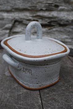 Stoneware Butter Dish for my homemade butter!