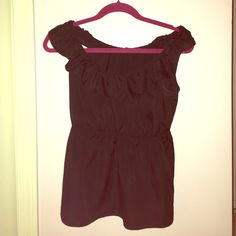 Forever 21 top Super cute black top with ruffle detail around the top *donating all times in my closet next week! Prices are negotiable! All offers will be considered!! Forever 21 Tops Blouses