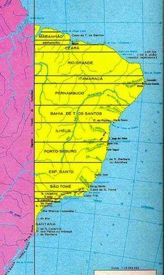 CARLOS  -  Professor  de  Geografia: Jorge Cintra reconstrói o mapa das Capitanias Here...