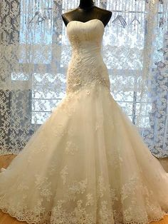 2015 The latest version of the Sweetheart lace Tulle wedding Mermaid bridal dress BCH178