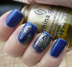 EuRoPe Challenge # 4 - Greece - Contrary Polish Santorini stamped in gold