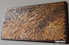 Birth by Marcel Kralik is a sculpted painting, carefuly handcrafted and painted on a wooden board.