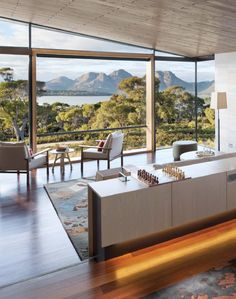 Saffire Freycinet's captivating architecture carries a message of aspiration and confidence, reflected in the organic form inspired by the shape of a stingray. Interior Design Layout, Beautiful Interior Design, Design Room, Exotic Places, Hotels And Resorts, Luxury Hotels, Tasmania, Room Inspiration, Living Room Designs
