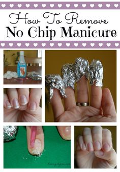 How to safely and easily remove a no chip manicure. #NoChip #Manicure