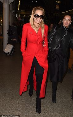 Red Hot Right Now: Rita ensured she brought a slice of her sensational sartorial prowess back to London as she touched down at King's Cross station on Tuesday after her jaunt to the French city