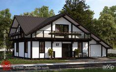 Коттедж 10х14: архитектура, зd визуализация, 2 эт | 6м, жилье, кантри, 100 - 200 м2, фасад - штукатурка, каркас - дерево, коттедж, особняк, архитектура #architecture #3dvisualization #2fl_6m #housing #country #100_200m2 #facade_plaster #frame_wood #cottage #mansion #architecture arXip.com