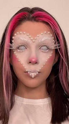 Cool Makeup Looks, Creative Makeup Looks, Unique Makeup, Crazy Makeup, Pretty Makeup, Sweet Makeup, Face Paint Makeup, Eye Makeup Art, Beauty Makeup