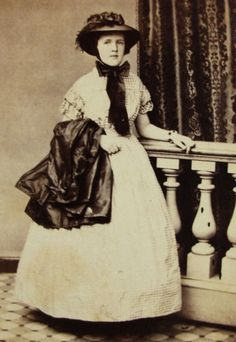 Civil War Era CDV Photo Lovely Young Woman Pretty Hoop Dress Hat Philadelphia   eBay