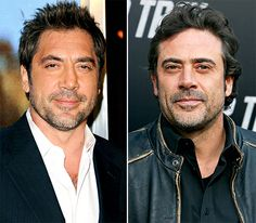 Celebrity Look-Alikes - Seeing double? Even the Hollywood elite have doppelgängers! Javier Bardem and Jeffrey Dean Morgan