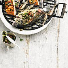 Zum Rezept: Gegrillte Fischplatte