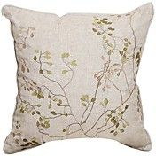 Elegant Embroidery Linen Decorative Pillow Co... – USD $ 19.99