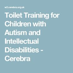 Toilet Training for Children with Autism and Intellectual Disabilities - Cerebra