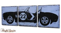 This Vintage Race Car #22 wall art is customizable and would look great in a boys room, garage or man cave! Custom made to fit your room perfectly. A