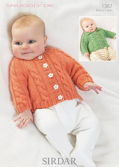 Ravelry: Cabled Cardigan with Round Neck or Collar pattern by Sirdar Spinning Ltd.