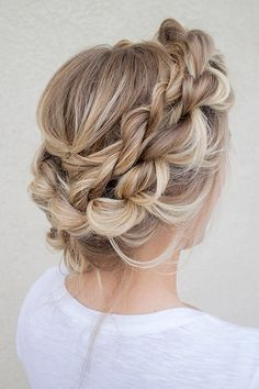 Wedding Hairstyles for Outdoor Weddings - Messy Braided Crown