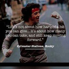 Most memorable quotes from Rocky Balboa, a movie based on film. Find important Rocky Balboa quotes from film series:Rocky Rocky II Rocky III Rocky IV Rocky V and Rocky Balboa Check InboundQuotes for Daily Inspiration Quotes, Great Quotes, Quotes To Live By, Life Quotes, Motivation Inspiration, Dont Quit Quotes, Fitness Inspiration, Career Quotes, Status Quotes