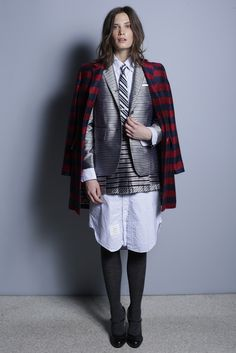 Thom Browne Pre-Fall 2013...Is this a woman or a man....if you can't tell then there is something deeply wrong here.