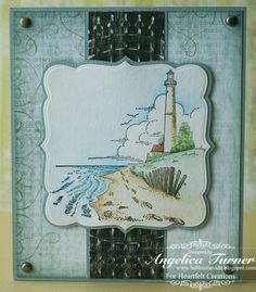 Masculine card made with Heartfelt Creations stamps and paper.