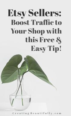 Etsy Sellers Boost Traffic to Your Shop With this Free & Easy Tip! Let's face it, getting found in the sea of Etsy search can be tricky. Nailing your SEO,. Craft Business, Business Tips, Online Business, Business Marketing, Business Planning, Serious Business, Creative Business, Media Marketing, Starting An Etsy Business