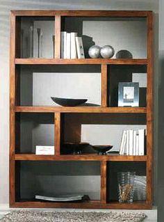Obývací stěna - knihovna, indie palisandr antique > varianta display > 130 x 35 x 180 cm