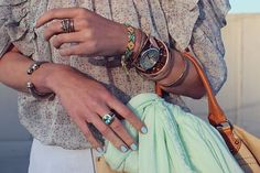 love the bling with the friendship bracelets