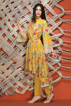 Khaadi - I16601 YELLOW - Women - New Arrivals