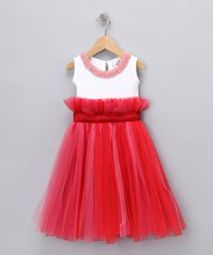 Save Now on this Pink & Red Pearl Tutu Dress - Infant, Toddler & Girls by Candytoez on #zulily today!