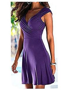 Women's Summer Sex V Neck Knee Length Casual Party Dress  The best clothing deals are fashion forward designs that are  in style and that you are comfortable in.  Therefore take a look at these best clothing deals under $10. There are many types of dresses to chose from  A line dress, Maxi dress, flowing dress and you will find all kinds of stylish  colors such as red, blue, purple, green, black and yellow.