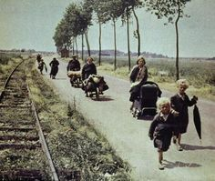 French refugees, 1940. Refugees the world over since the dawn of time look the same: lost and bewildered.