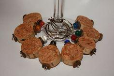 Handmade Set of 8 Natural Wine Cork Charms by sharoncornejo, $5.00