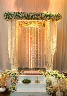 Wedding ceremony decorations arch simple 70 ideas for 2019 Wedding Stage Decorations, Marriage Decoration, Flower Decorations, Diwali Decorations At Home, Table Decorations, Mandir Decoration, Ganapati Decoration, Board Decoration, Class Decoration