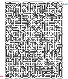 Mazes to Print - Mega Crossover Mazes Maze Puzzles, Logic Puzzles, Hard Mazes, Maze Drawing, Maze Worksheet, Labyrinth Maze, Printable Mazes, Mazes For Kids, Maze Game