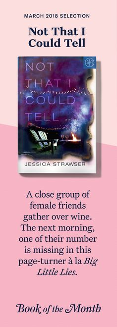 A close group of female friends gather over wine. The next morning, one of their number is missing in this page-turner à la Big Little Lies . Good New Books, Ya Books, Book Club Books, Library Books, Book Suggestions, Book Recommendations, Reading Lists, Book Lists, Books 2018