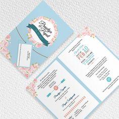Blue Soft Wedding Invitation  #invitationdesign #invitation #weddinginvitation #schellialion #wedding #weddingcard