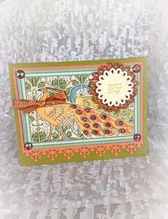 Birthday Card, Happy Birthday, Filigree, Vintage, Art Nouveau,Floral Greeting…