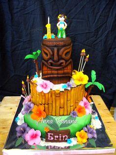 Hawaiian Luau Childrens Birthday Cakes