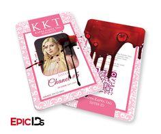 "Scream Queens Inspired ""Chanel #5"" Kappa Kappa Kappa Tau Sorority ID (Bloody)"
