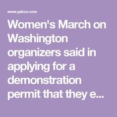 Women's March on Washington organizers said in applying for a demonstration permit that they expected 200,000 people.  Christopher Geldart, the District of Columbia's homeland security director, thinks the march will draw more than that. Some 1,800 buses have registered to park in the city on Saturday, which would mean nearly 100,000 people coming in just by bus, Geldart said. Amtrak trains into and out of the city are also fully booked on that day, Geldart said.