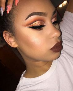 beauty, eyebrows, and make up