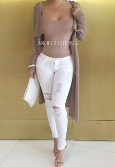 WHITE Ripped All Over Low Rise Jeans - New