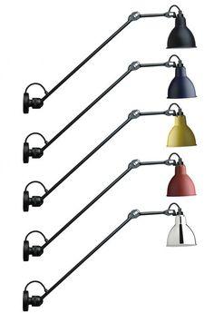 Wandleuchte/Deckenlampe N° 304 mit Gelenkarm 40/60 cm von  Lampe Gras, Bild 7: Die Gelenkwandleuchten sind in diversen Schirm-Farben erhältlich (hier am Beispiel Modell 2)
