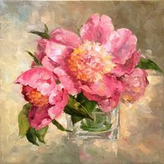 A Peony For Your Thoughts  12 x 12 oil