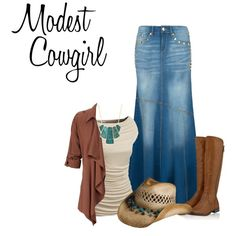 """Modest Cowgirl"" by ohmygoodnesssomeoneactually on Polyvore"