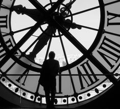Black and White Clock by Jenni Anne Photography