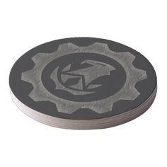 Steampunk Gear Hawk Variant Coaster