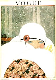 Vintage Vogue cover by George Lepape, January 15, 1919