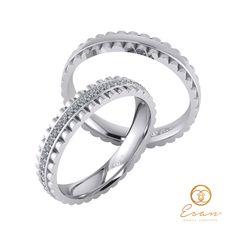 Verighete din aur alb cu diamante ESV15 Wedding Rings, Engagement Rings, Aur, Jewelry, Enagement Rings, Jewlery, Jewerly, Schmuck, Jewels