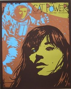 cat power music gig posters | Cat Power Concert Poster by Todd Slater